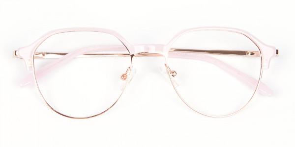 Fantasy Rosy Octagonal Glasses - 6