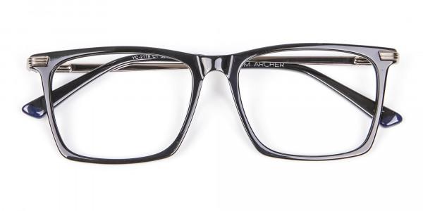 Bold black eyeglasses -6