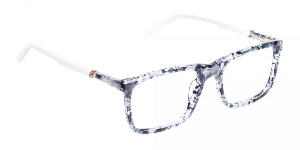 Blue Marble Rectangular Glasses, Online UK -2