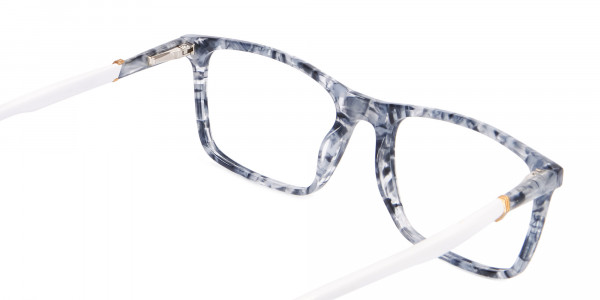 Blue Marble Rectangular Glasses, Online UK -5