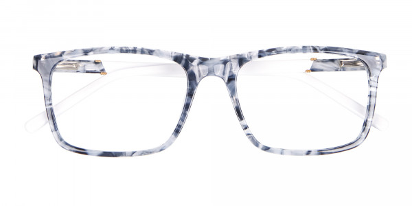 Blue Marble Rectangular Glasses, Online UK -6
