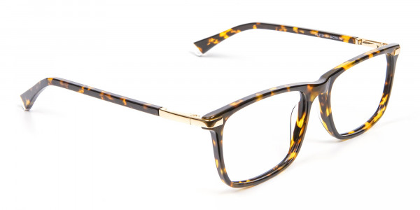 Tortoiseshell Glasses with Gold Hinge - 2
