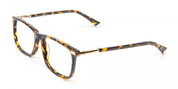 Tortoiseshell Glasses with Gold Hinge - 3