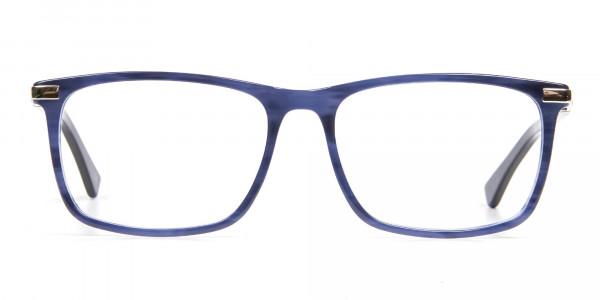 Comfort Fit Blue Rectangular Frame - 1