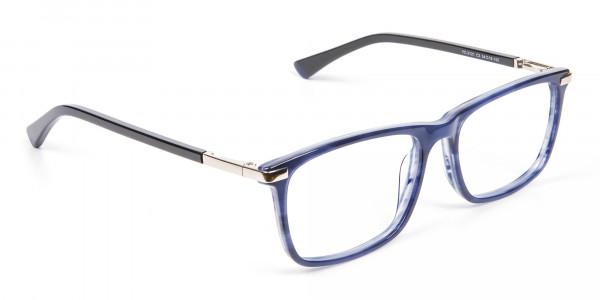 Comfort Fit Blue Rectangular Frame - 2