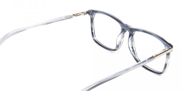 Rectangular Glasses in Grey and Blue - 5