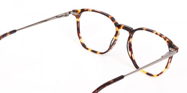 Tortoise Geometric Glasses Frame Unisex-5