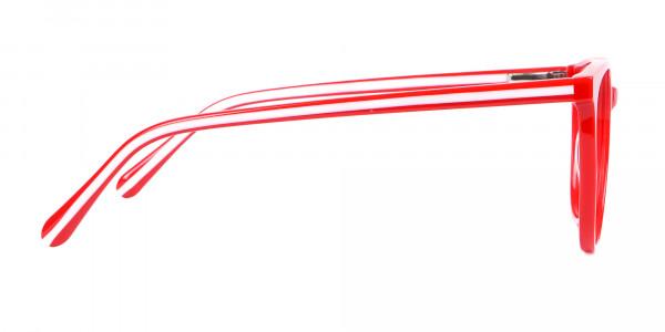 Full Rimmed No Nose Pad Red Frame - 4