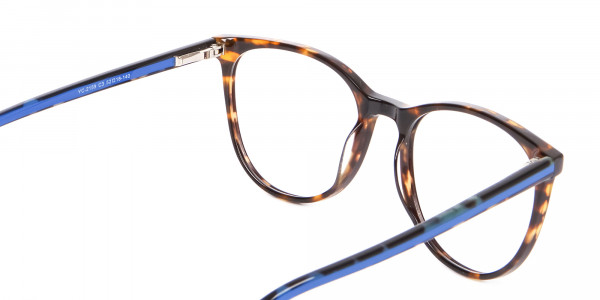 Fashion Round Frame in Tortoiseshell & Blue - 5