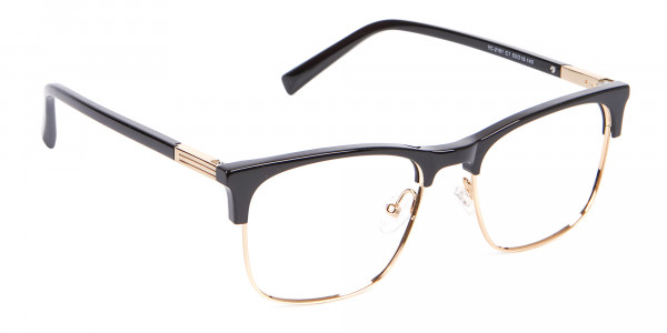 Retro Black & Gold Browline Free Delivery - 2