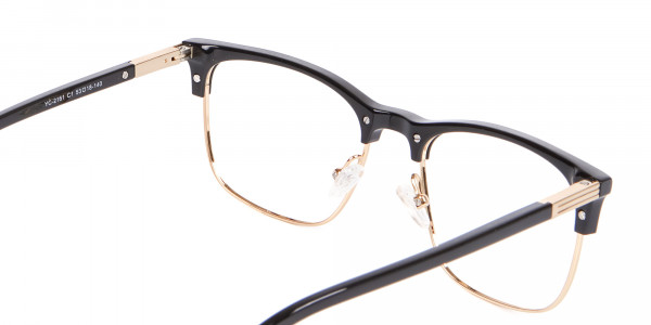 Retro Black & Gold Browline Free Delivery - 5