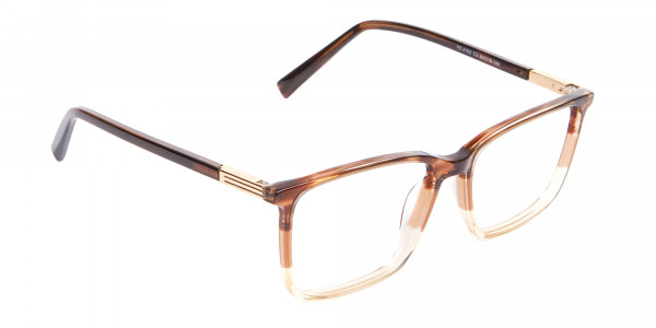Mixed Material Textured Brown Frame in Rectangle - 2