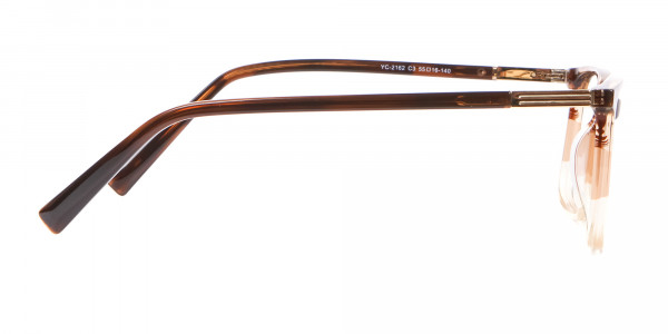 Mixed Material Textured Brown Frame in Rectangle - 4