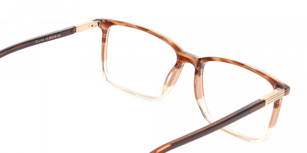 Mixed Material Textured Brown Frame in Rectangle - 5