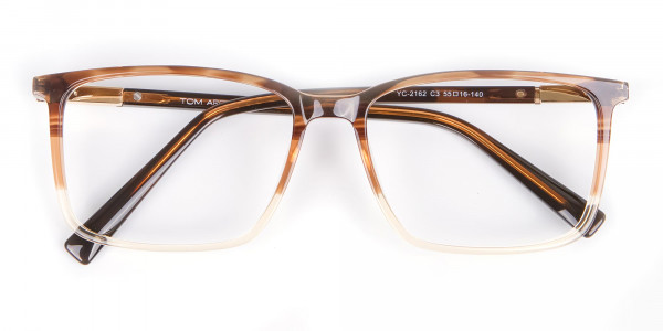 Mixed Material Textured Brown Frame in Rectangle - 6