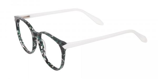 Emerald Green, Tortoise and White Round Glasses-3