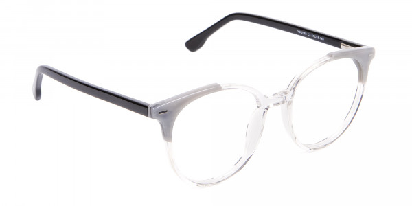 Smart Round Glasses in Trendy Clear Style - 2