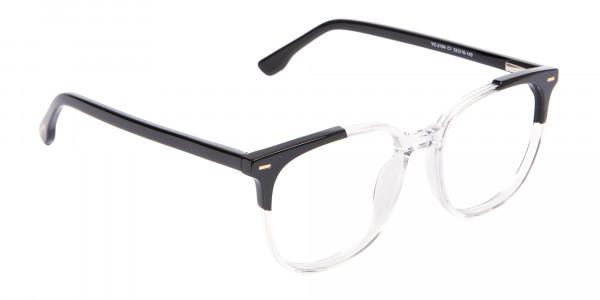 Geek Chic Wayfarer Frame Black & Translucent - 2