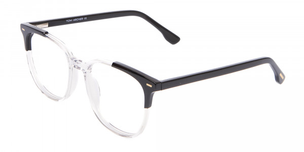 Geek Chic Wayfarer Frame Black & Translucent - 3