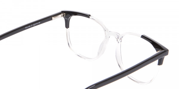 Geek Chic Wayfarer Frame Black & Translucent - 5