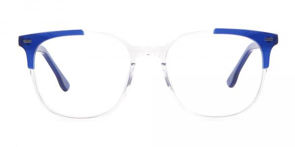 Nerd Wayfarer Colour Mix Frame, Blue Glasses - 1