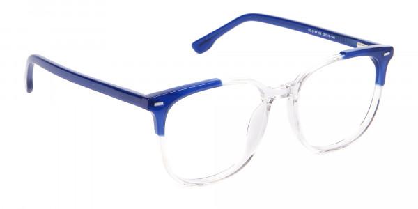 Nerd Wayfarer Colour Mix Frame, Blue Glasses - 2