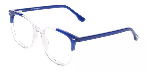 Nerd Wayfarer Colour Mix Frame, Blue Glasses - 3