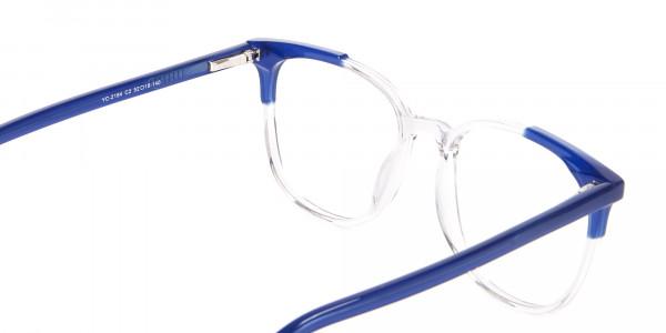 Nerd Wayfarer Colour Mix Frame, Blue Glasses - 5