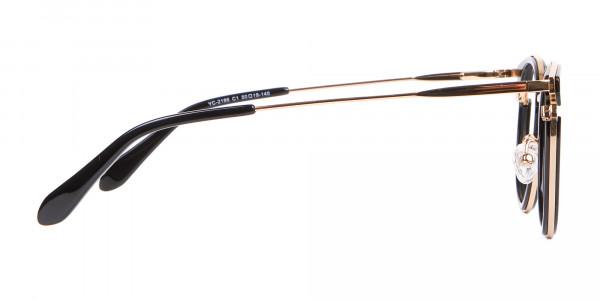 Black & Gold Round Frame Avant-Garde-4