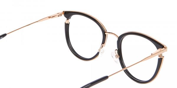 Black & Gold Round Frame Avant-Garde-5
