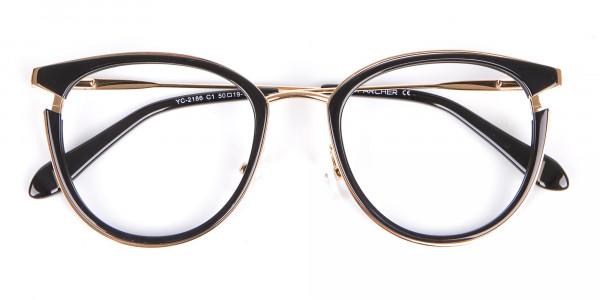 Black & Gold Round Frame Avant-Garde-6