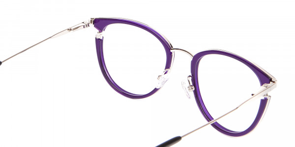 Violet Purple Retro Round Frame-5