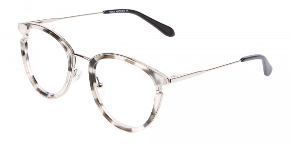 Marble Retro Round Frame with Comfy-3