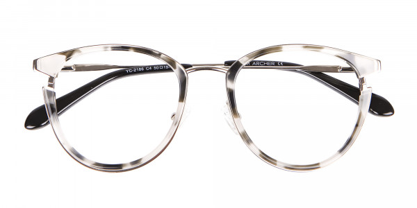 Marble Retro Round Frame with Comfy-6