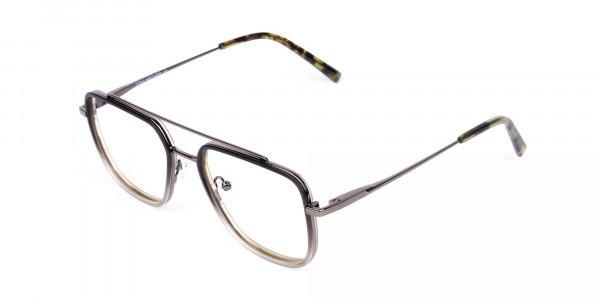 Dark-Green-and-Silver-Aviator-Glasses-3