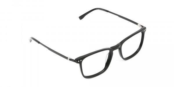 Designer Black Frame glasses in Rectangular - 2