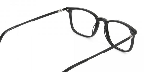 Designer Black Frame glasses in Rectangular - 5