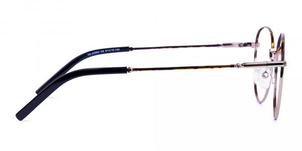 Gunmetal-Round-Tortoise-Shell-Glasses-4