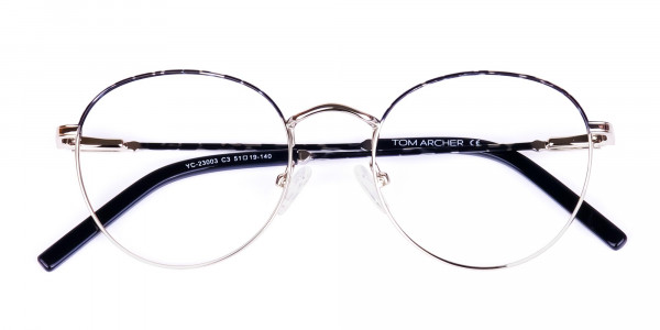 Silver-and-Marble-Tortoise-Shell-Round-Glasses-6