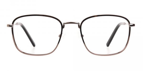 Full-Rim Gunmetal Wayfarer Glasses Frame Unisex-1