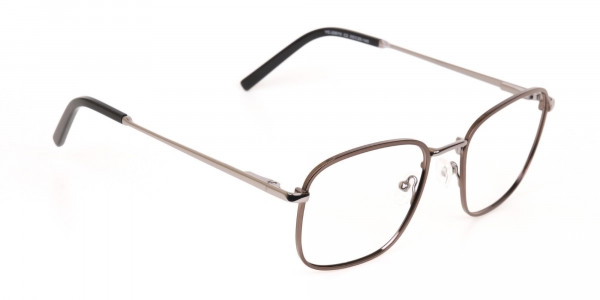 Full-Rim Gunmetal Wayfarer Glasses Frame Unisex-2