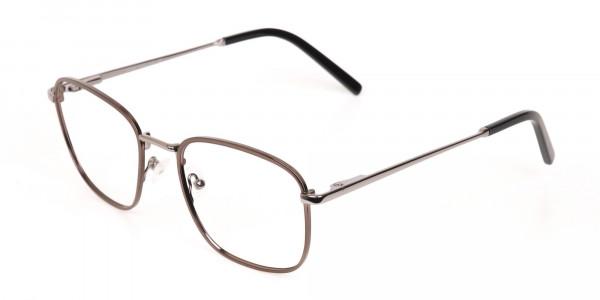 Full-Rim Gunmetal Wayfarer Glasses Frame Unisex-3