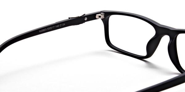 black Wayfarer eyeglasses -4