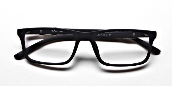 black Wayfarer eyeglasses -5