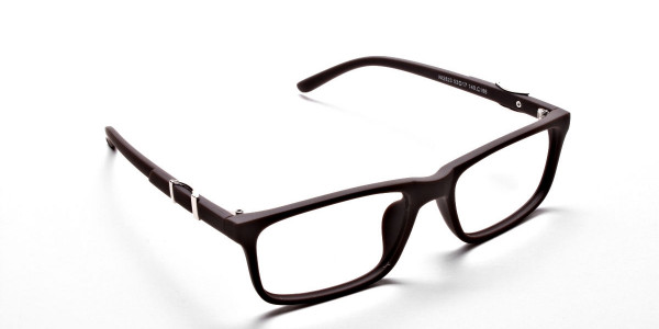 Brown Rectangular Wayfarer Glasses -1