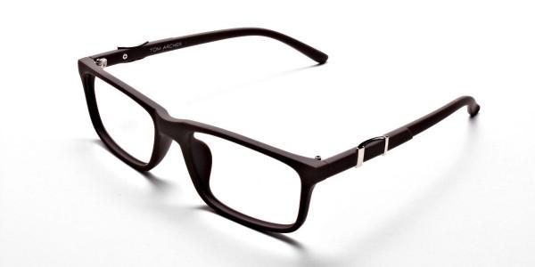 Brown Rectangular Wayfarer Glasses -2
