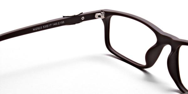 Brown Rectangular Wayfarer Glasses -4