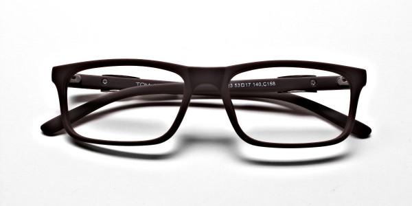 Brown Rectangular Wayfarer Glasses -5
