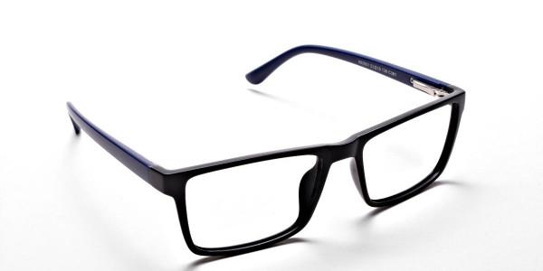 Black & Blue Glasses -1