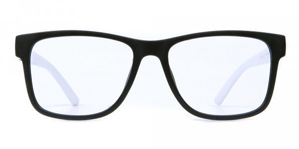 Black & White Frame Eyeglasses